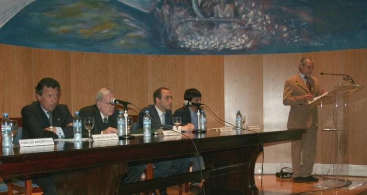 Alberto Dalla Via, Tulio Ortiz, Alberto Spota, Manuel Quinteros y Carlos Andreucci