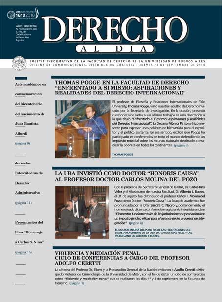 Tapa de Derecho al Día - Edición 166