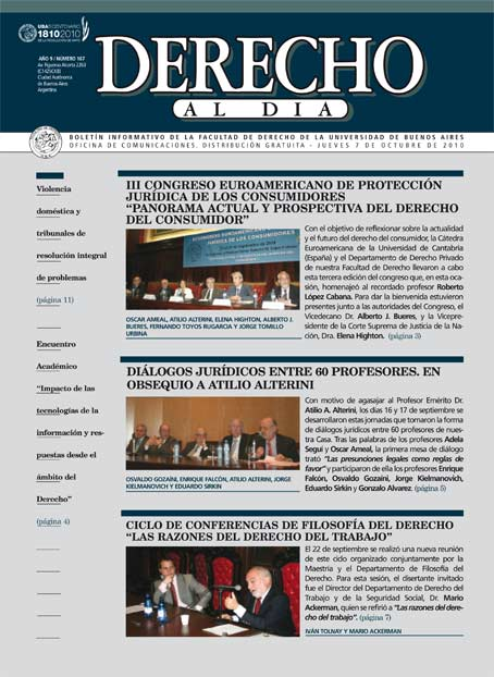 Tapa de Derecho al Día - Edición 167