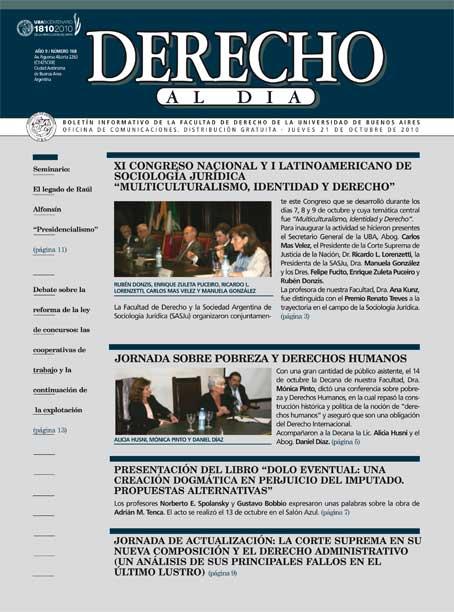 Tapa de Derecho al Día - Edición 168