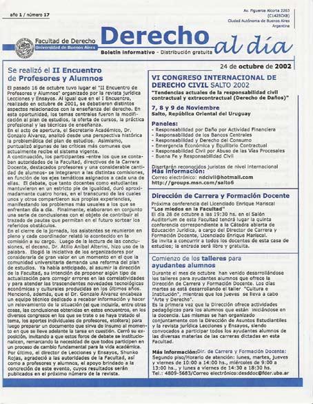 Tapa de Derecho al Día - Edición 17