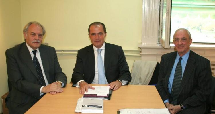 Guillermo Ragazzi, Eduardo Favier Dubois (h) y Raúl A. Etcheverry