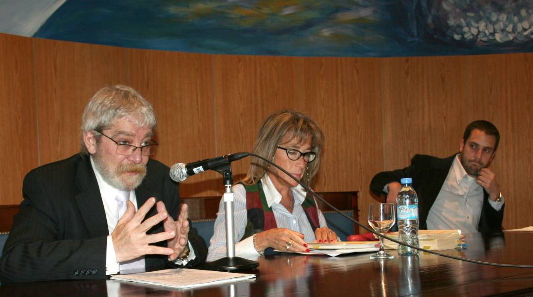 Gregorio Flax, Mónica Biaggio y Mauro Benente