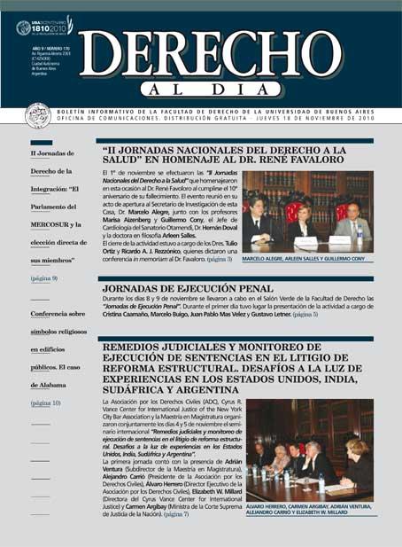Tapa de Derecho al Día - Edición 170