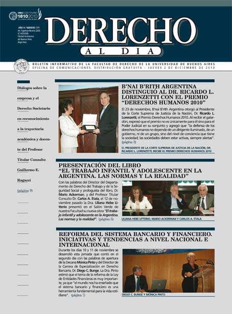 Tapa de Derecho al Día - Edición 171