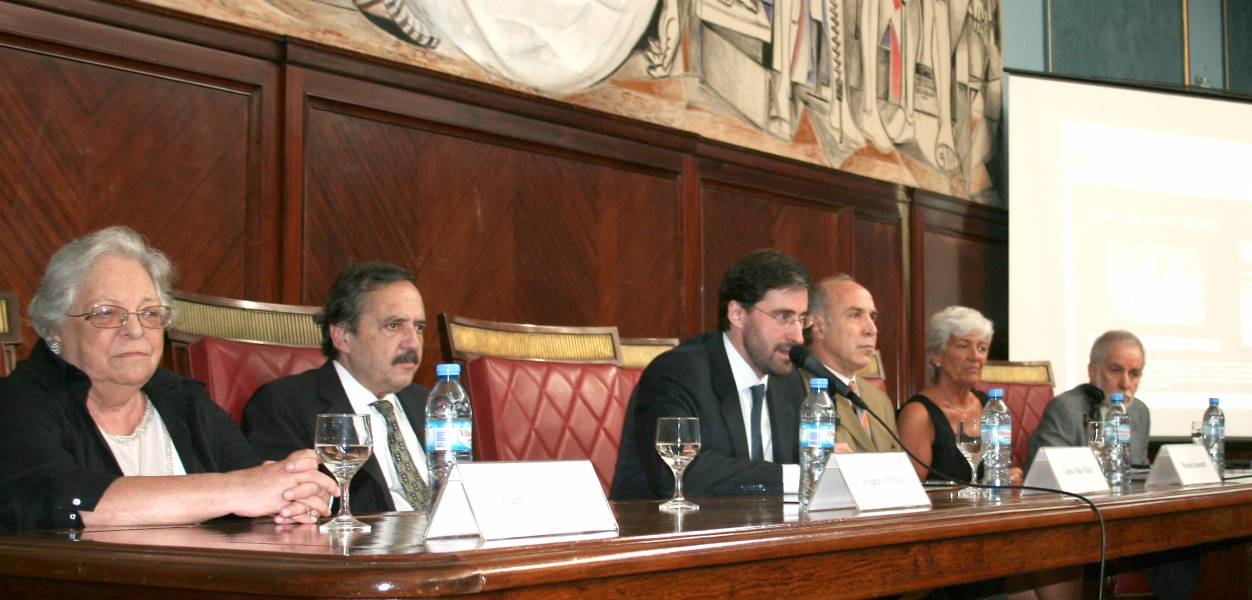 Carmen Argibay, Ricardo Alfonsín, Carlos Mas Velez, Ricardo L. Lorenzetti, Mónica Pinto y Pepe Eliaschev