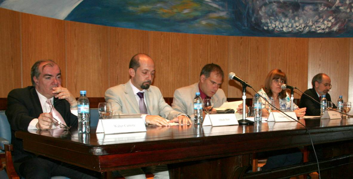 Walter Carnota, Alfredo Soto, Calogero Pizzolo, Sandra C. Negro y Umberto Celli