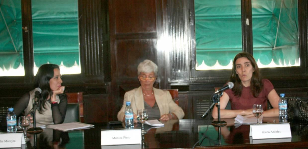María Julia Moreyra, Mónica Pinto e Ileana Arduino