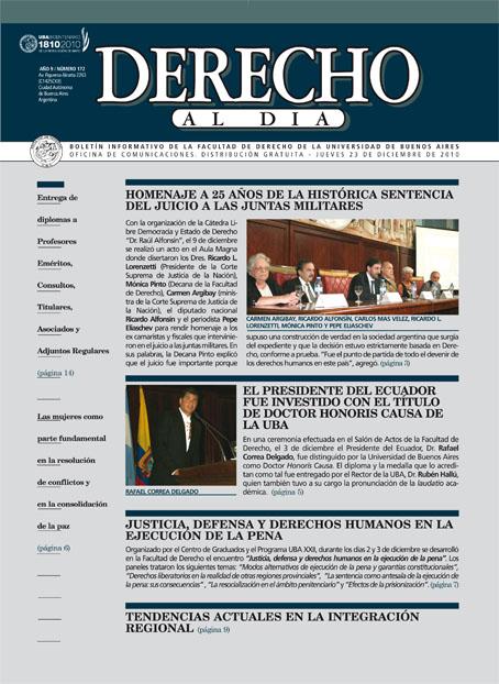 Tapa de Derecho al Día - Edición 172