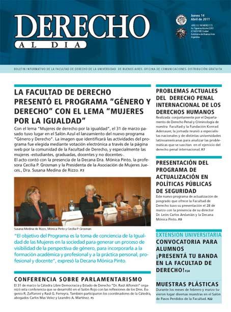 Tapa de Derecho al Día - Edición 173