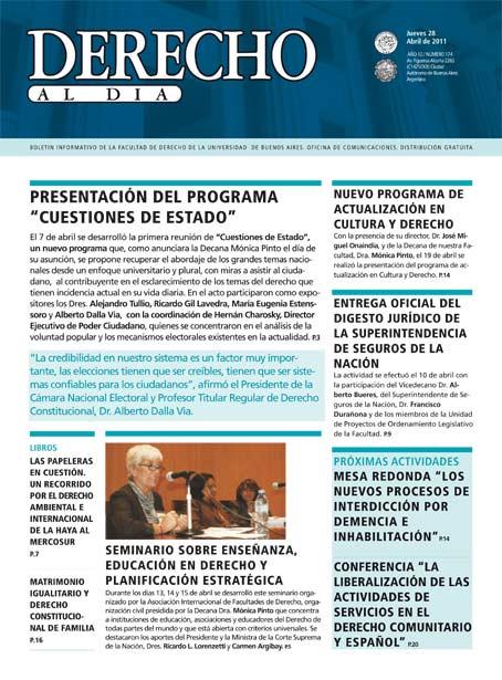 Tapa de Derecho al Día - Edición 174