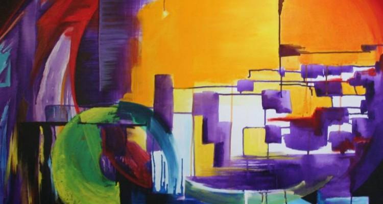 Obra correspondiente a la exposición de pinturas del taller del Maestro Carlos Cañás