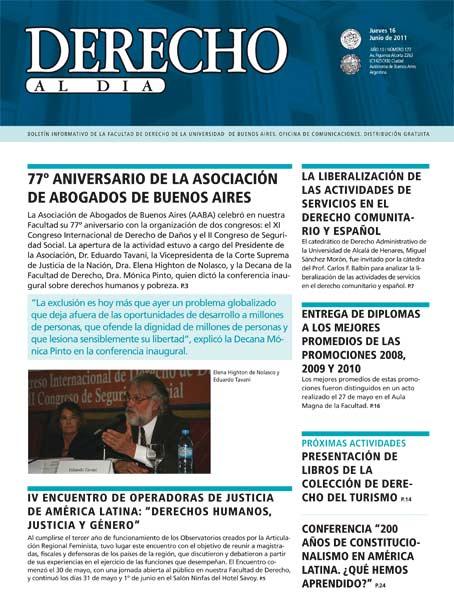 Tapa de Derecho al Día - Edición 177