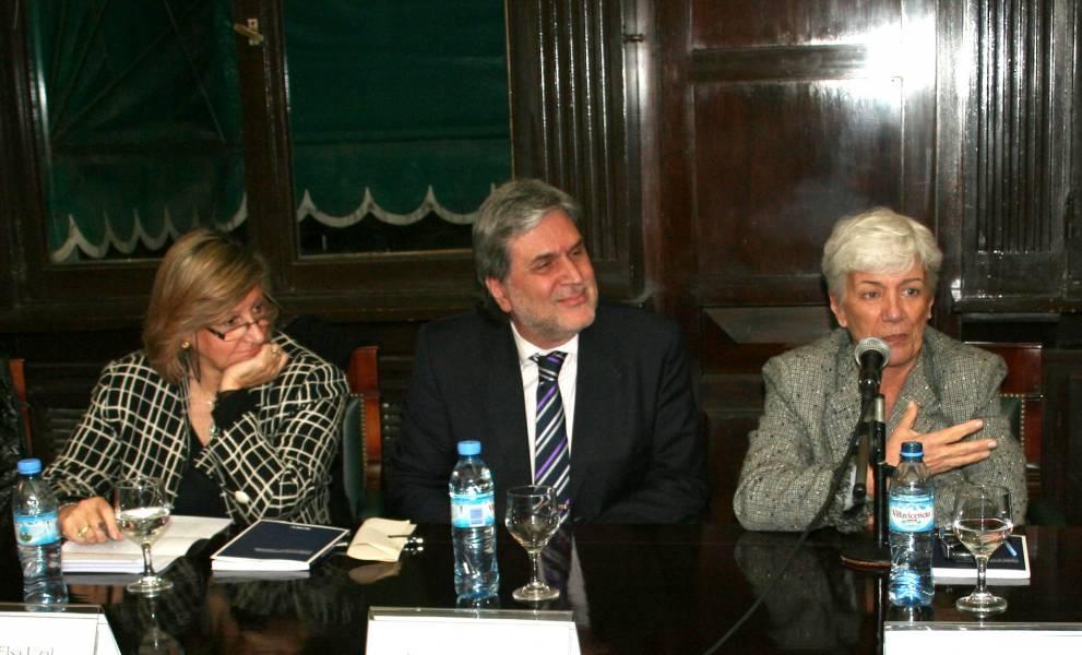 María Elsa Uzal, Juan José Cerdeira y Mónica Pinto