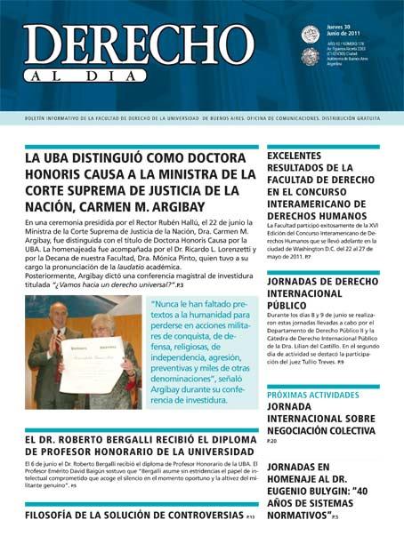 Tapa de Derecho al Día - Edición 178
