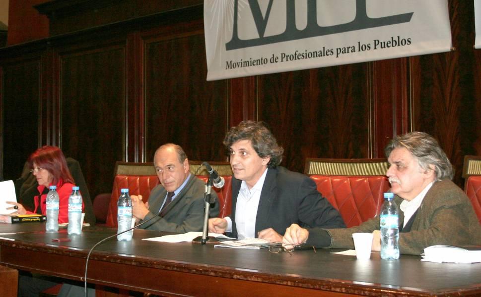 Marita Perceval, Eugenio R. Zaffaroni, Alejandro Alagia y Horacio González
