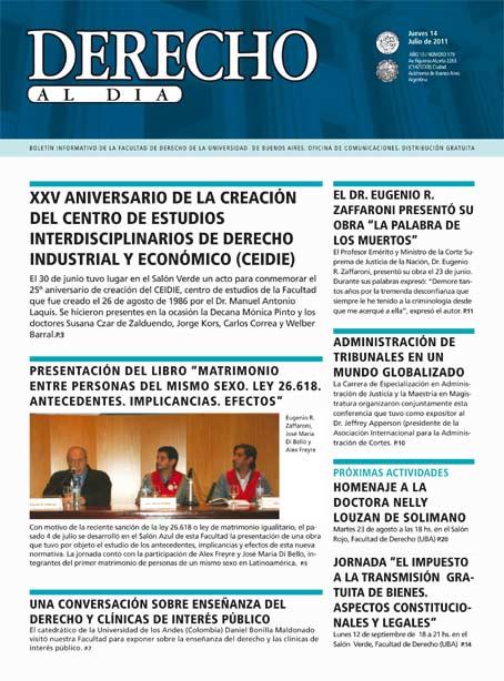 Tapa de Derecho al Día - Edición 179