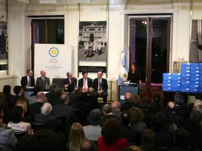 El Digesto Jurídico Argentino elaborado por la Facultad de Derecho se presentó en la Casa Rosada