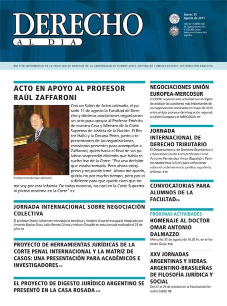 Tapa de Derecho al Día - Edición 180