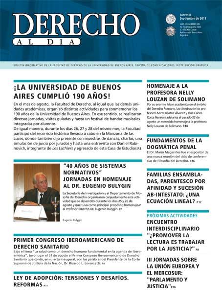 Tapa de Derecho al Día - Edición 181