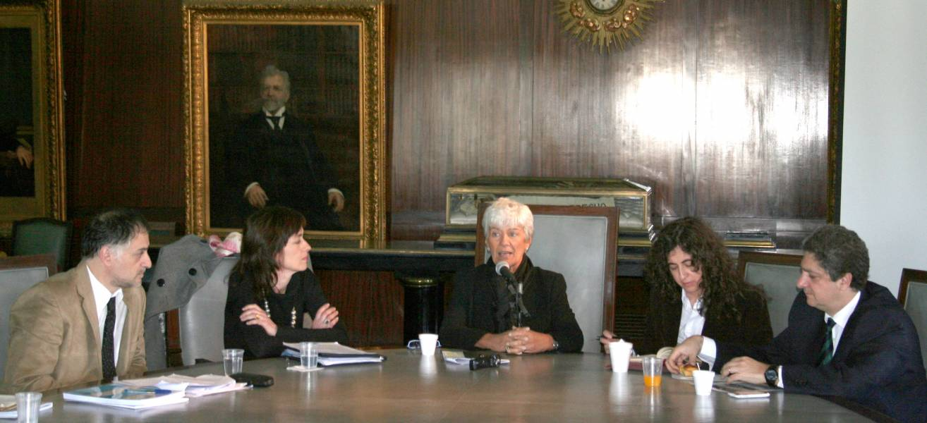 Gustavo Gamallo, Laura Pautassi, Mónica Pinto, Mary Beloff y Marcelo Alegre