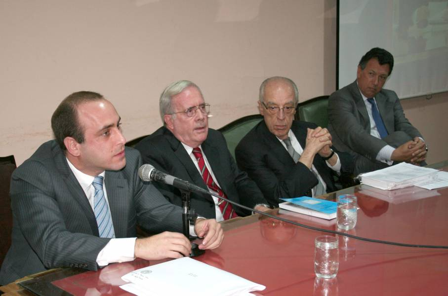 Alberto Spota (h), Tulio Ortiz, Atilio Alterini y Alberto Dalla Via
