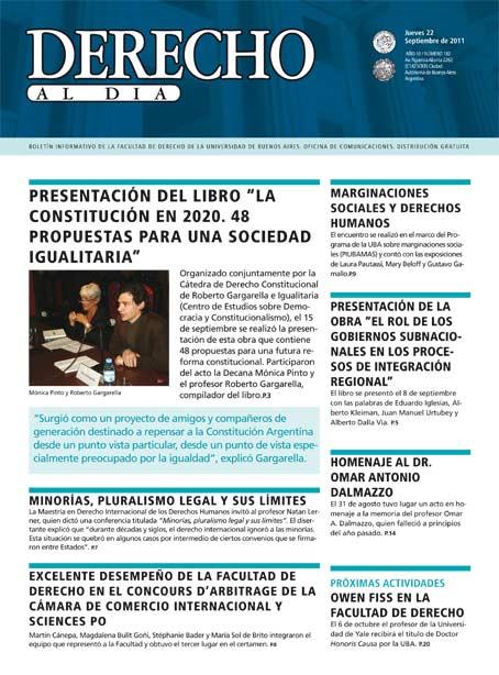 Tapa de Derecho al Día - Edición 182