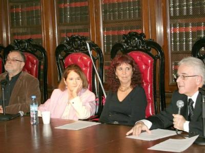 Mempo Giardinelli, Elena Highton de Nolasco, Margarita Eggers Lan y Bartolomé Orfilia
