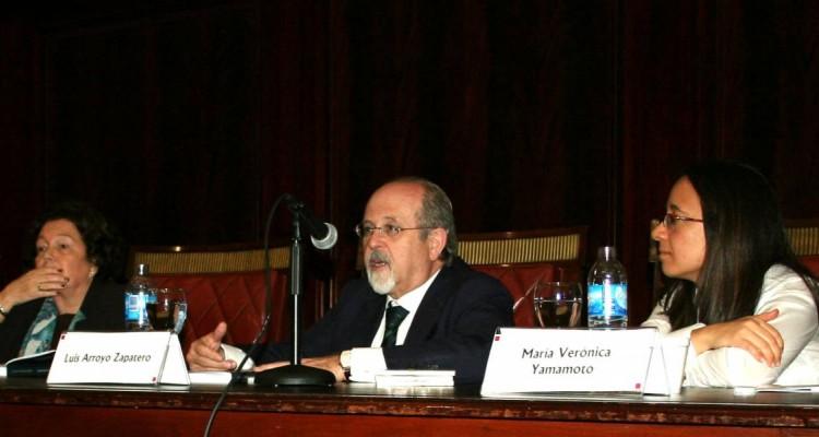 Stella Maris Martínez, Luis Arroyo Zapatero y María Verónica Yamamoto