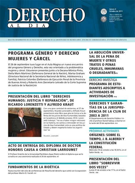 Tapa de Derecho al Día - Edición 183