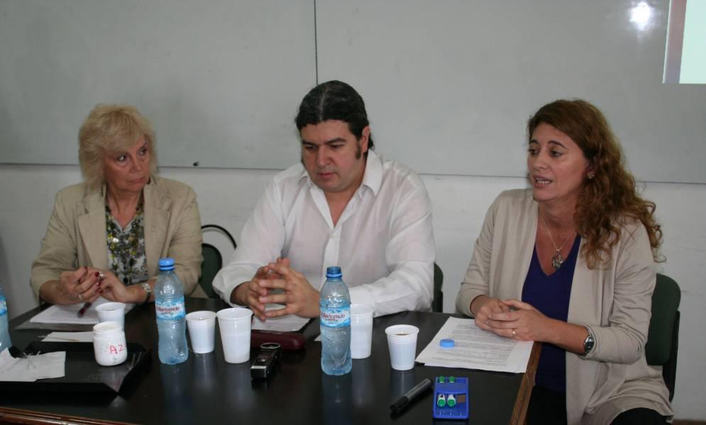 Delia Bisutti, Mariano Echenique y Vanesa Zito Lema