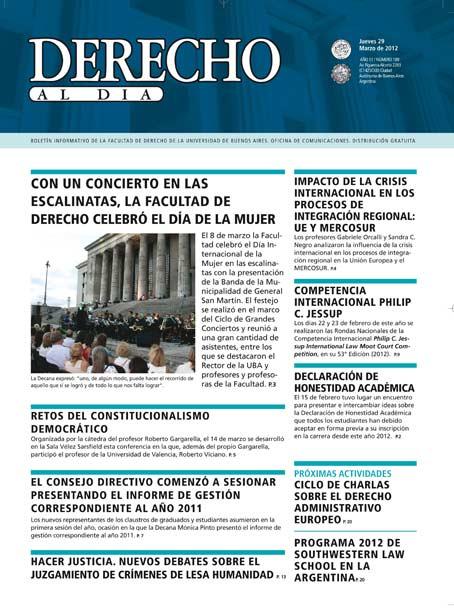 Tapa de Derecho al Día - Edición 189