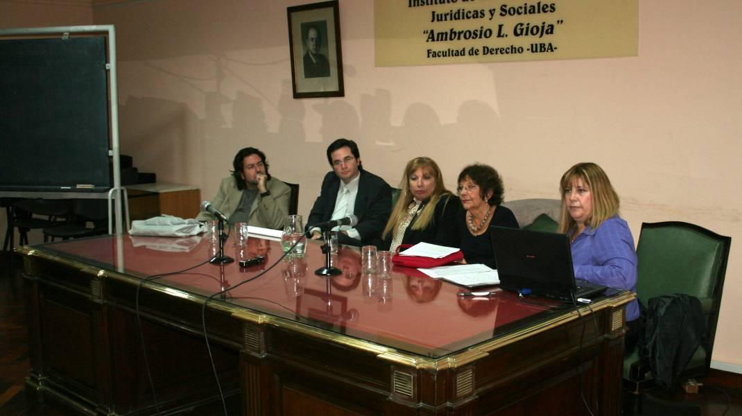 Ricardo Rabinovich-Berkman, Elian Pregno, María Cristina Cortesi, Lily Flah y Marisa Aizenberg