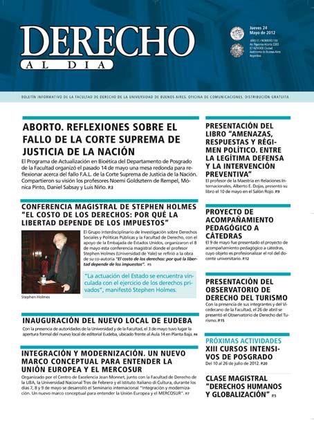 Tapa de Derecho al Día - Edición 193