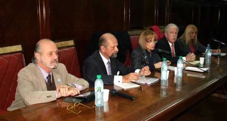 Eduardo Sirkin, Rafael Manóvil, Ángela Ledesma, Jorge L. Kielmanovich y Silvia Guahnon