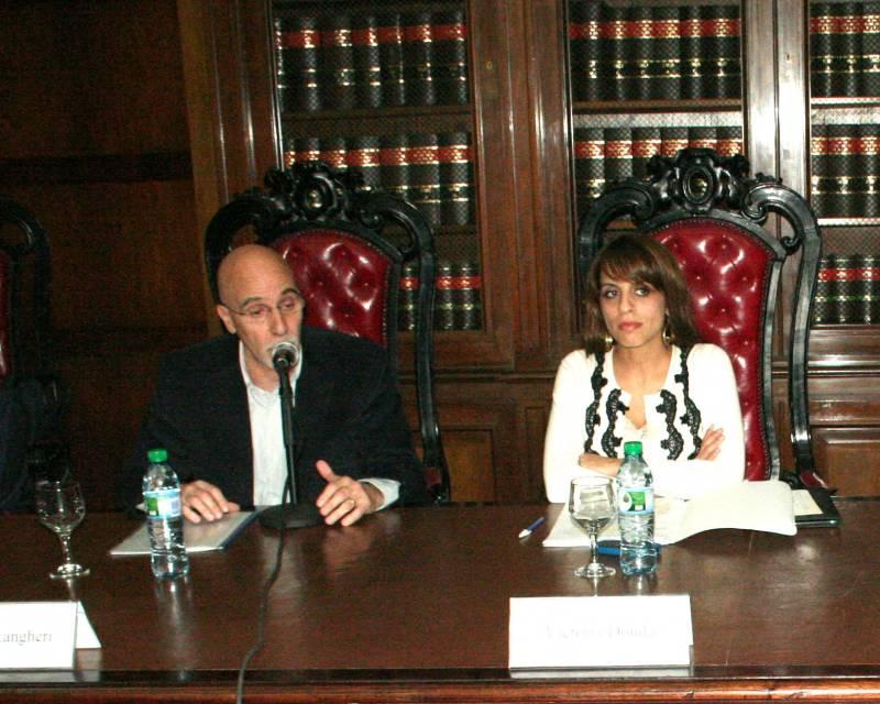 Marcelo Langheri y Victoria Donda