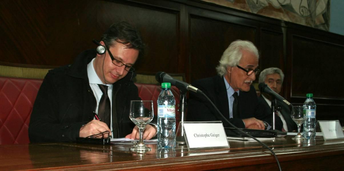 Christophe Geiger, Jorge Kors y Carlos Correa