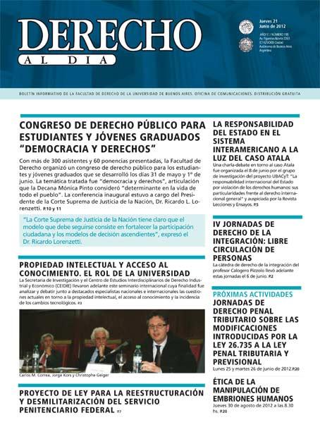 Tapa de Derecho al Día - Edición 195