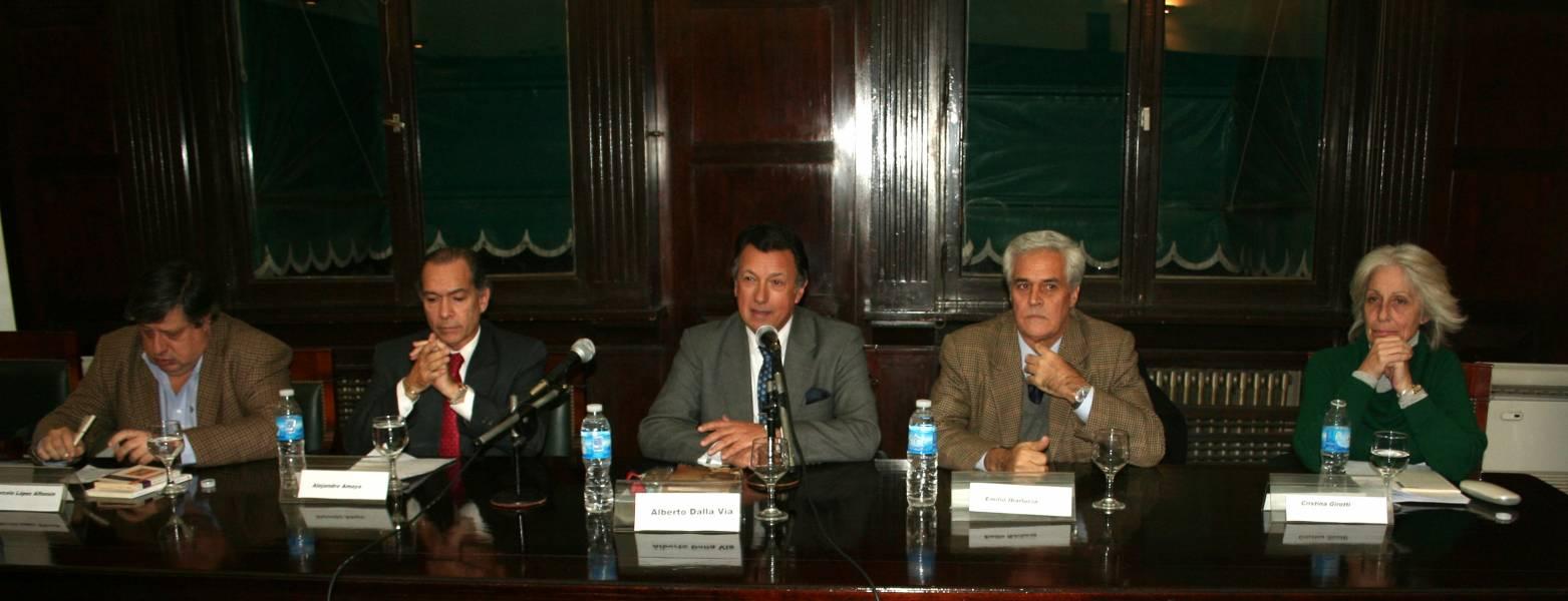Marcelo López Alfonsín, Alejandro Amaya, Alberto R. Dalla Via, Emilio Ibarlucía y Cristina Girotti
