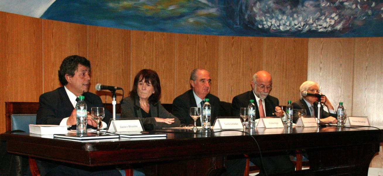 Gustavo Bruzzone, Lucila Larrandart, Esteban Righi, Luis de la Barreda Solórzano y Enrique Bacigalupo