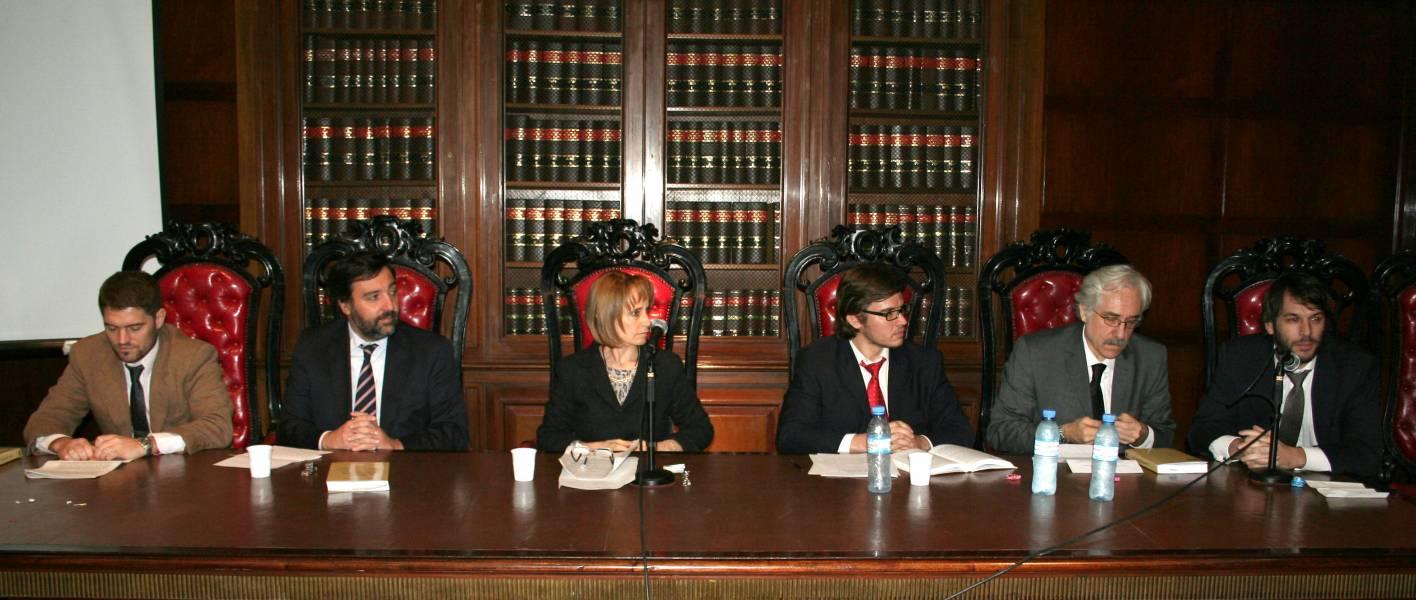 José María Salgado, Alejandro Verdaguer, Ángela Ledesma, Francisco Verbic, Víctor Trionfetti y Germán Degano