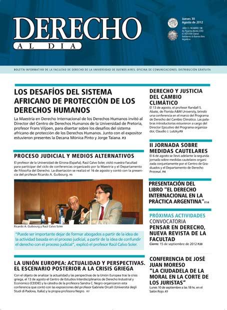 Tapa de Derecho al Día - Edición 198