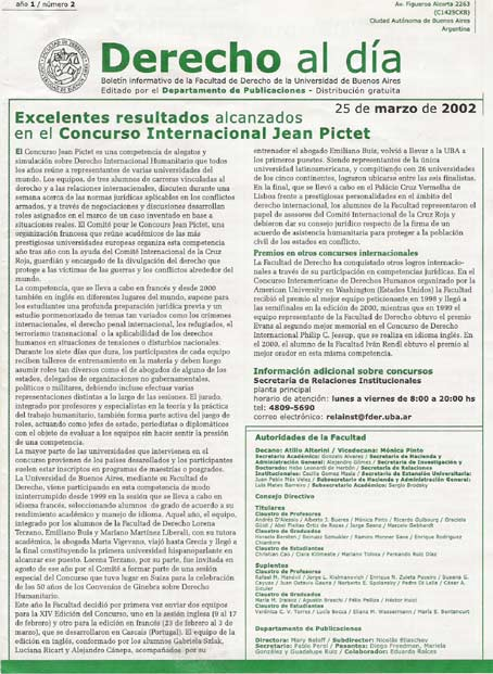 Tapa de Derecho al Día - Edición 2