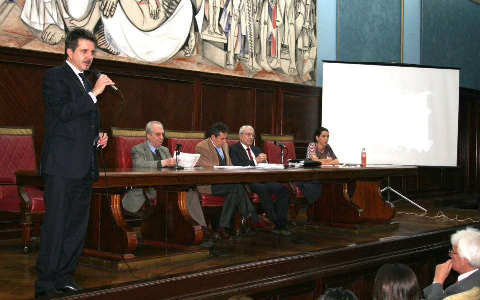 Juan Pablo Alonso, Eduardo Barbarosch, Renato Rabbi Baldi, Rolando Chirico y Marisa Herrera