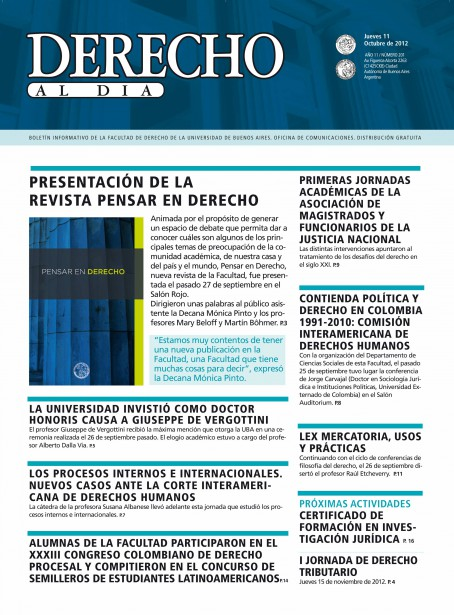 Tapa de Derecho al Día - Edición 201