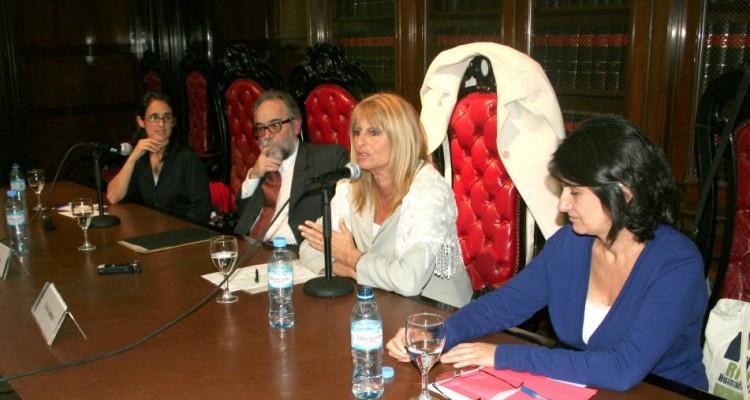 Natalia Gherardi, Fernando Ramírez, Silvia Guahnon y Liliana Tojo