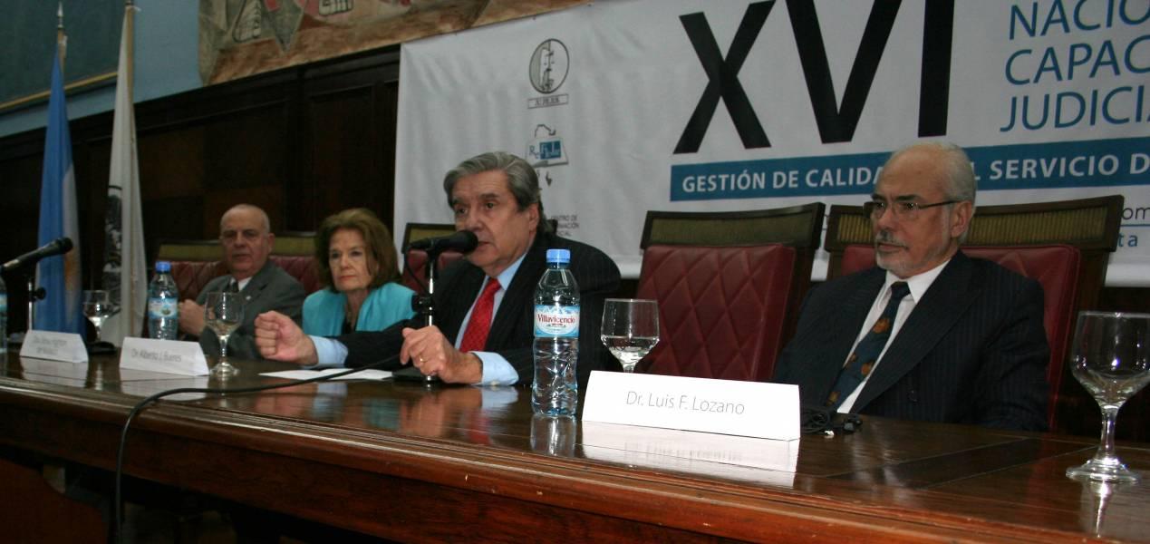 Fernando Royer, Elena Highton de Nolasco, Alberto J. Bueres y Luis F. Lozano