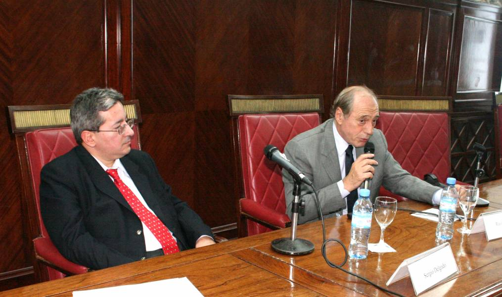 Sergio Delgado y Eugenio Raúl Zaffaroni