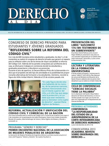 Tapa de Derecho al Día - Edición 204