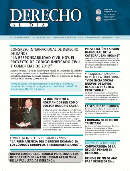 Tapa de Derecho al Día - Edición 205